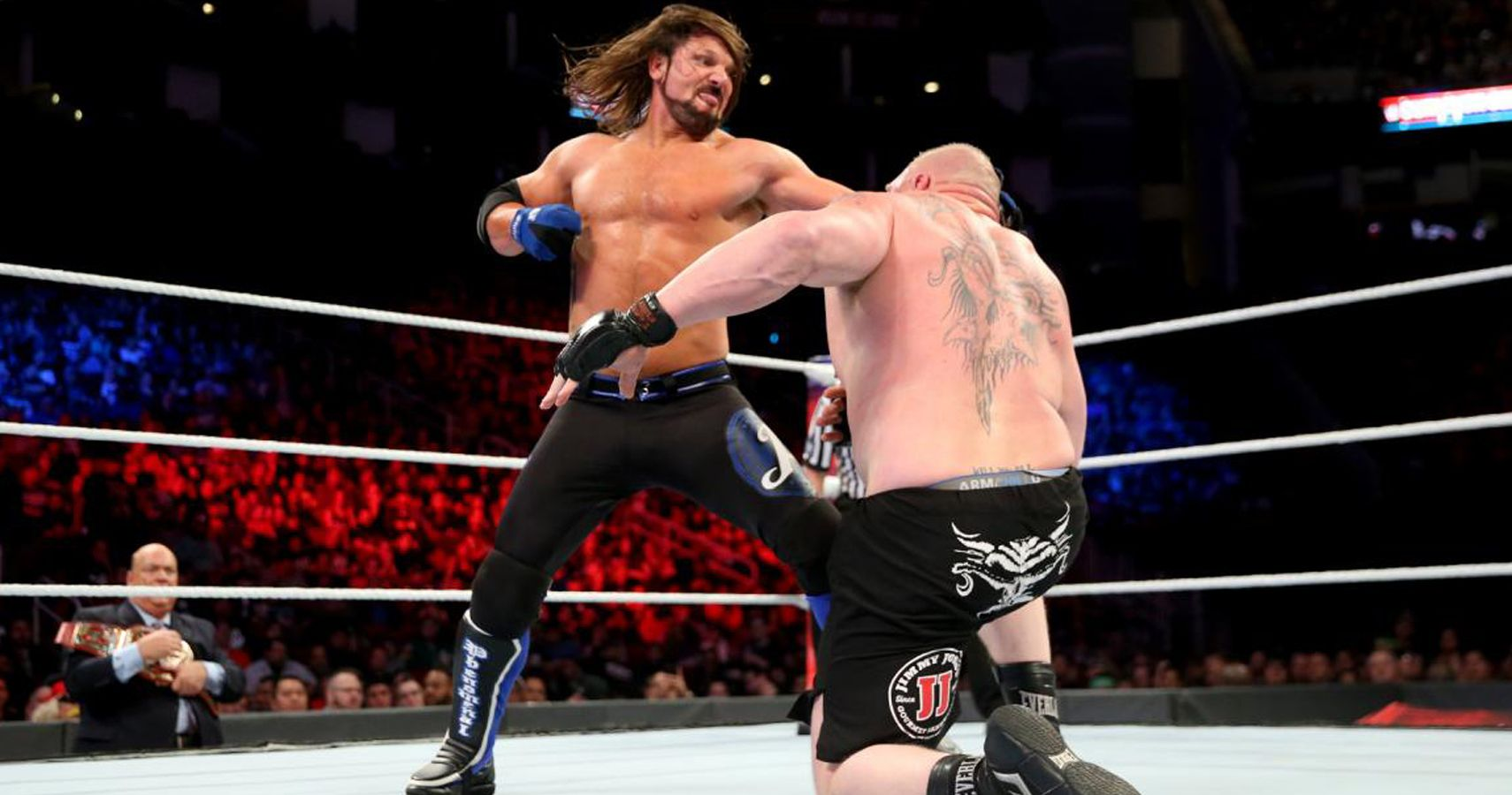 AJ Styles Blames WWE For Brock Lesnar U0026 39 S Few Title Defenses