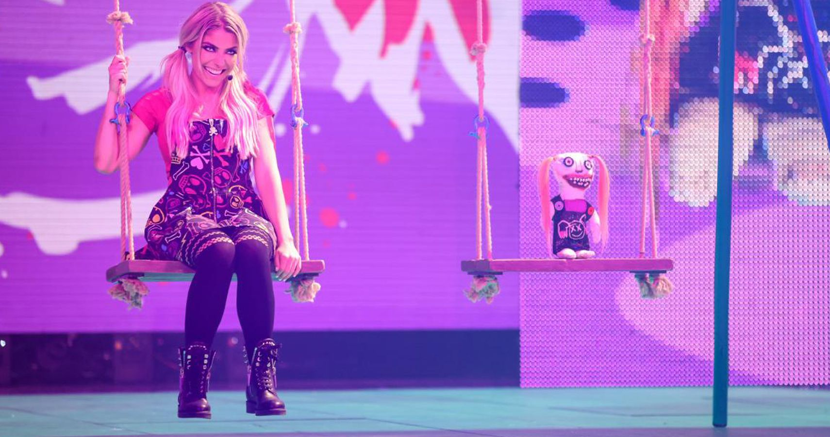 Who Alexa Bliss And Lilly Were Watching From The Stage On Raw [Theory]